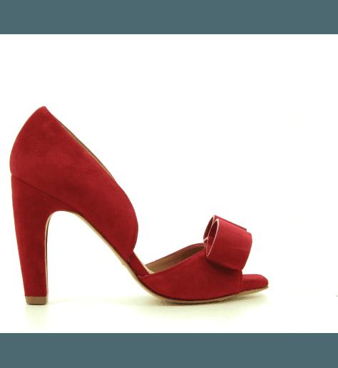 Escarpins en cuir velours à talons rouge TAMMY - Chie Mihara