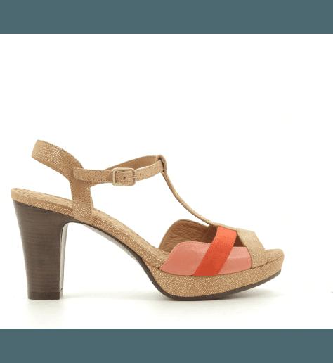 Sandales talons moyens tricolores ECAI - Chie Mihara