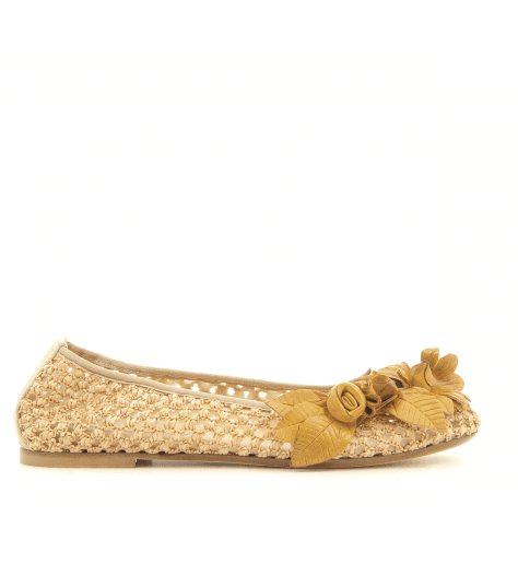 Ballerines moutarde avec ornement 4628TM fruit now - Garrice Collection