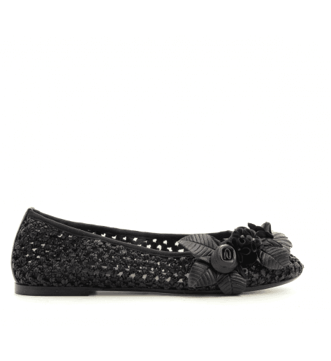 Ballerines noires avec ornement 4628TN fruit now - Garrice Collection