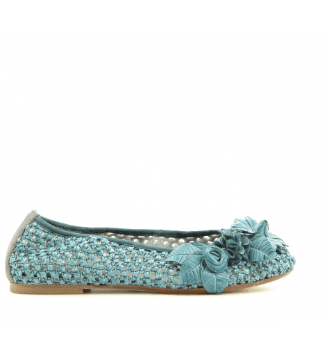 Ballerines bleues avec ornement 4628TB fruit now - Garrice Collection