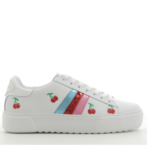 Sneakers Blanche et rose JCONNORS CHERRIES - Serafini