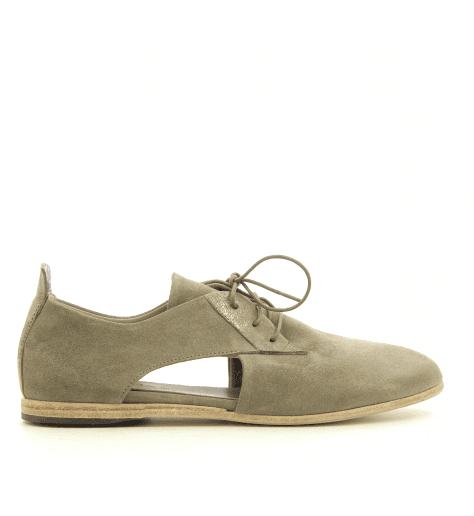 Derbies en velours taupe 4570 - Garrice Collection