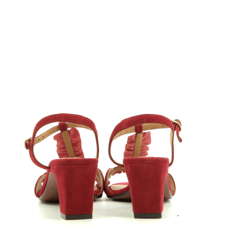 Sandales à petits talons rouge LAUBO RED - Chie Mihara