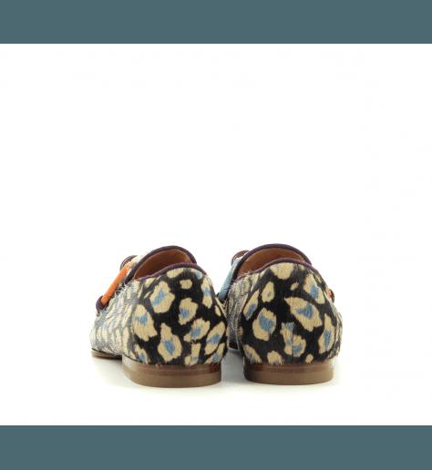 Mocassins plats en poulain léopard GG4333 - Paola D'arcano G di G