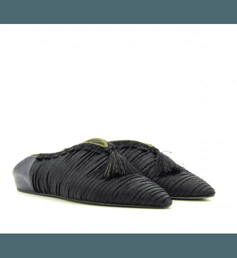 Mules style Babouche noir D1082N - Paola D'Arcano