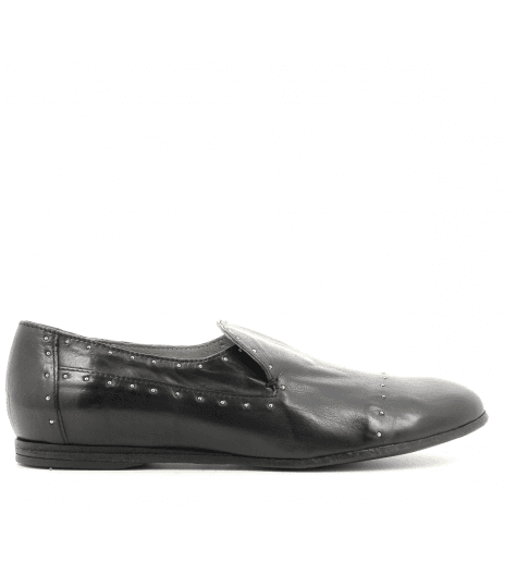 Mocassins plats en cuir noir 4562N fruit now - Garrice Collection