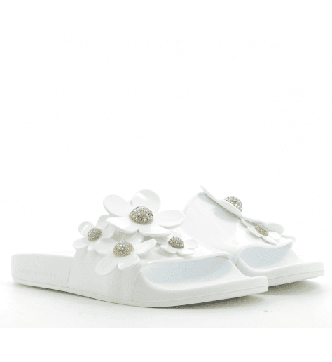 Sandales en plastique DAISY SLIDE WHITE  - Marc Jacobs