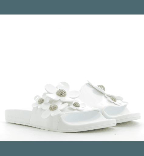 Sandales en plastique DAISY SLIDE WHITE  - Marc Jacobs