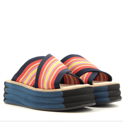 Sandales ou mules à plateformes multicolores Paul Smith - DEBRA MULTI