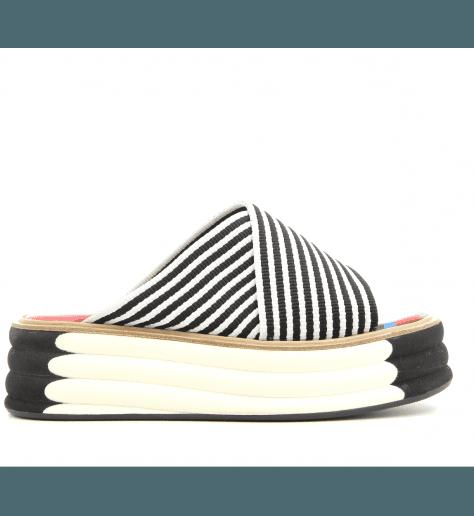 Sandales ou mules à plateformes noir et blanc Paul Smith - DEBRA BLACK