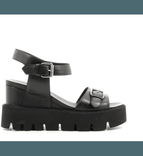Sandales noires à semelles épaisses Strategia jfk A3714 - Garrice Collection