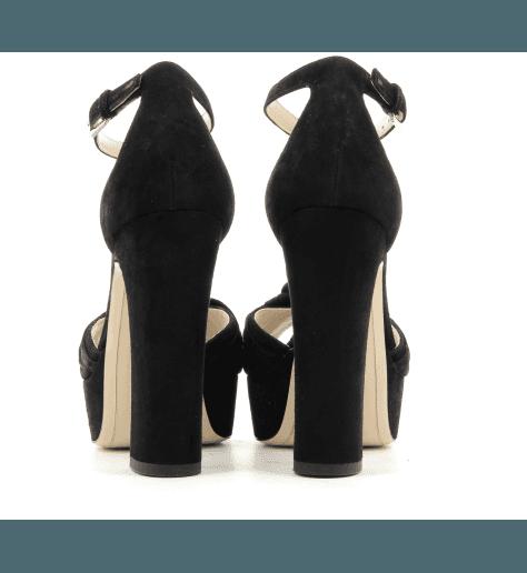 Sandales à talons hauts avec patins 5139104 noir - Deimille