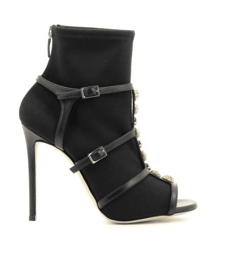 Bottines open-toe à talons noirs 402 stretch - GreyMer
