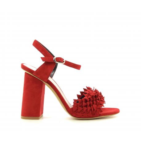 Sandales à talons rouge M4825 - Premiata