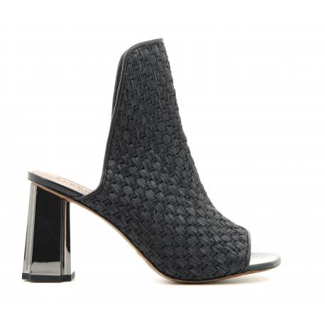 Sandales à talons ROBERT CLERGERIE cuir noir 38,5