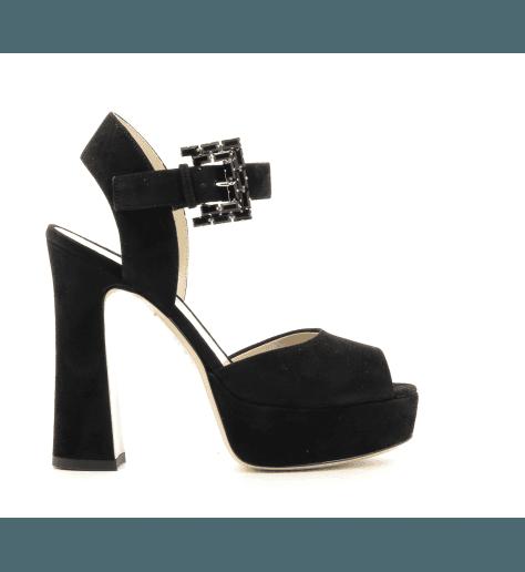 Sandales à talons hauts avec patin noir 5139102 - Deimille