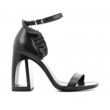 Sandales en cuir noir Vic Matie - 6484D