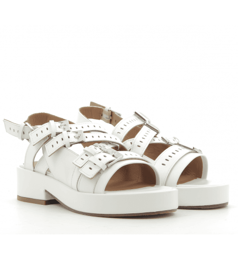 Sandales à semelle épaisse multibrides blanches FAMY- Robert Clergerie
