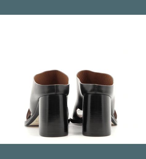 Mules en cuir noir style 70's  par Joseph - JO30002N