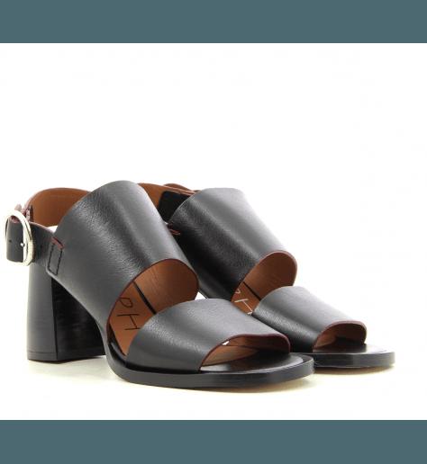 Sandales en cuir noir style 70's  par Joseph - JO30001N