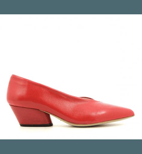 Escarpins pointus en cuir rouge Halmanera - JULIENNE06R