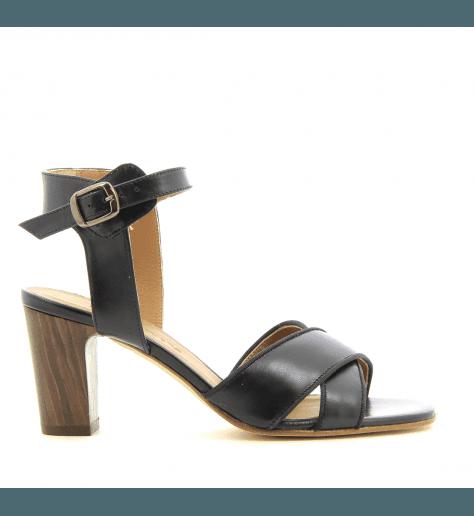 Sandales à talons noir New Lovers - DALIA1