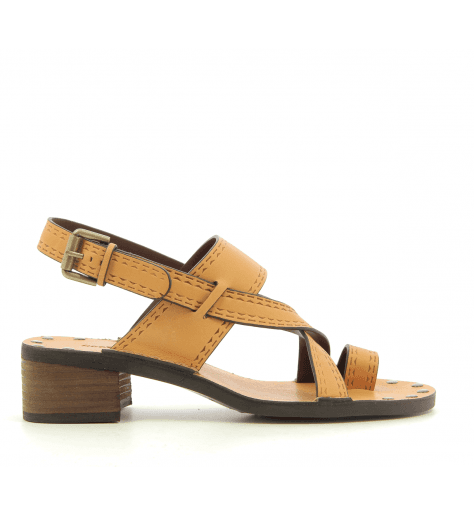 Sandales à talon moyens en cuir coquille d'oeuf See By Chloe - SB30043