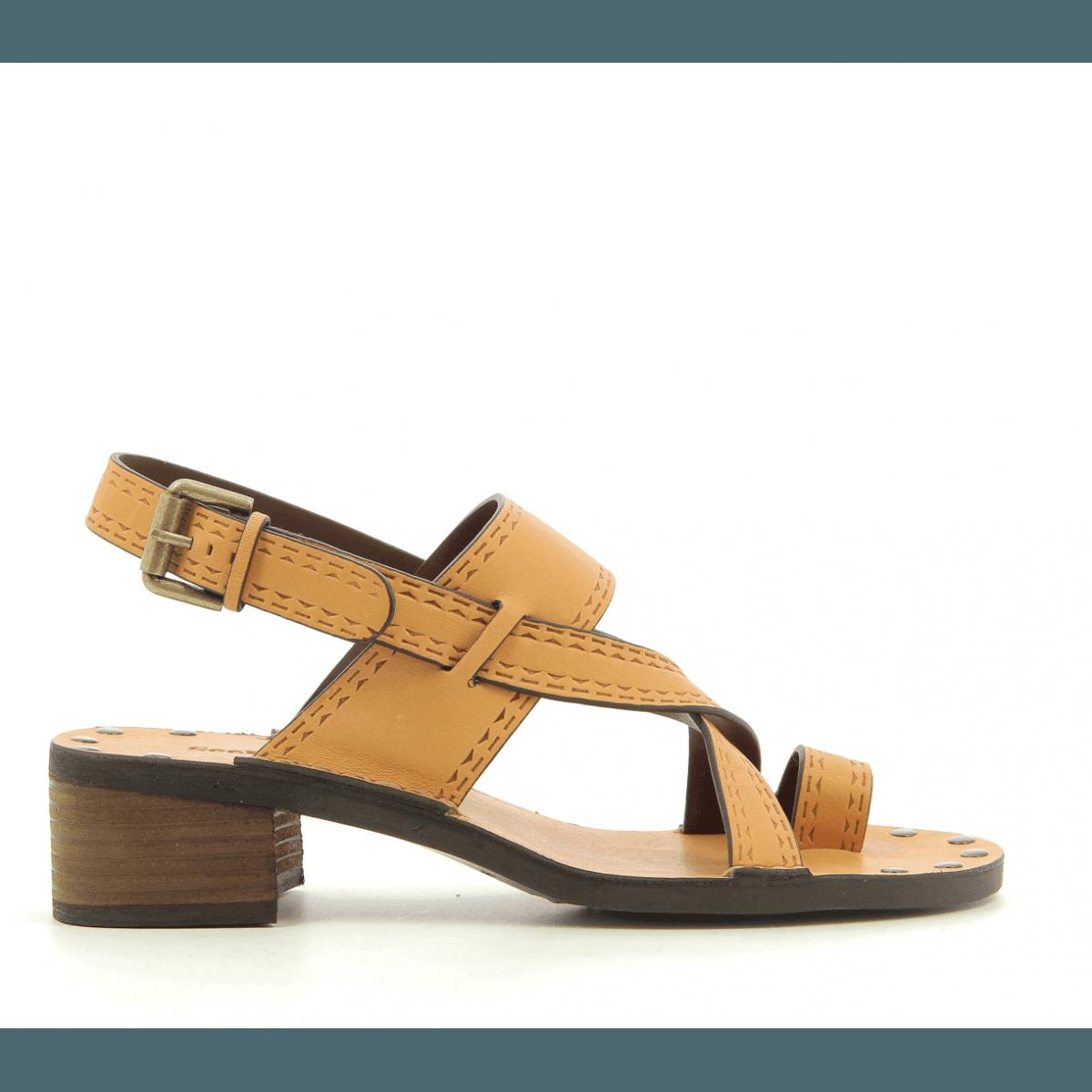 Sandales à talon moyens en cuir coquille d oeuf See By Chloe - SB30043 76e66bdf9a8