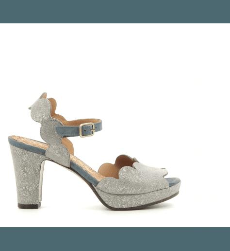 Sandales talons moyens argent irisé EVOLETA - Chie Mihara