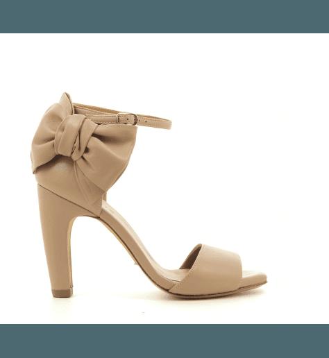 Sandales nude en cuir avec Noeud TALAZO - Chie Mihara