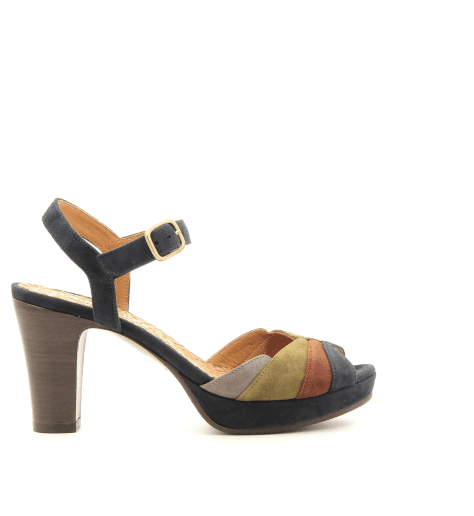 Sandales talons moyens tricolores EDITAM- Chie Mihara