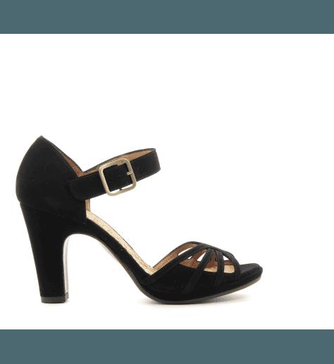 Sandales à talon en suede noir CHIE MIHARA - AMENO