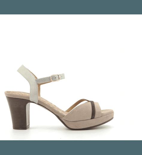 Sandales à talons en veau velour nude Chie Mihara - BASI