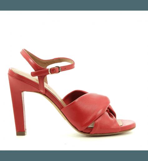 Sandales en cuir rouge à talons hauts Chie Mihara - MILON32