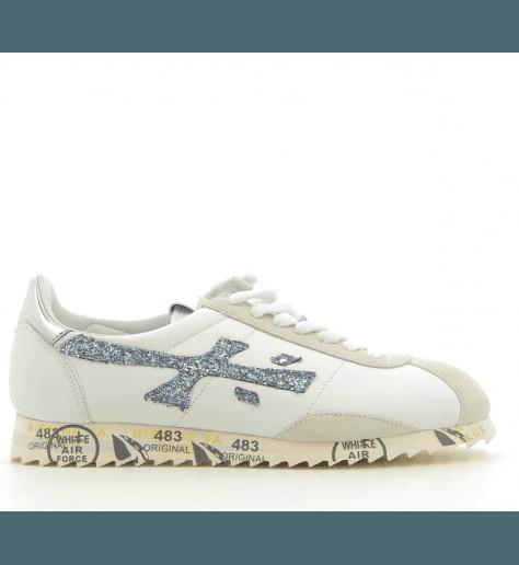 Sneakers en cuir blanc et argent PREMIATA - HATTORI 3115
