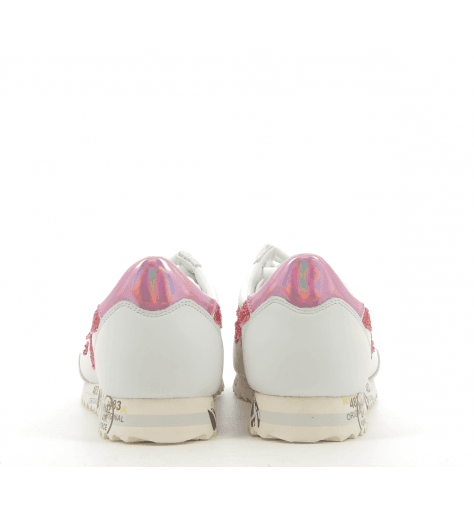 Sneakers en cuir blanc et rouge PREMIATA - HATTORI 3112