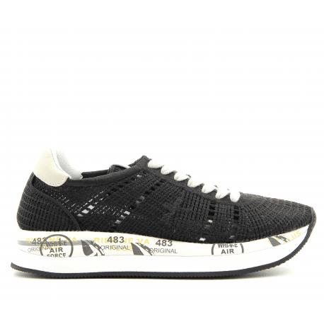 Sneakers à semelles épaisses en crochet noir  CONNY 1953 - Premiata