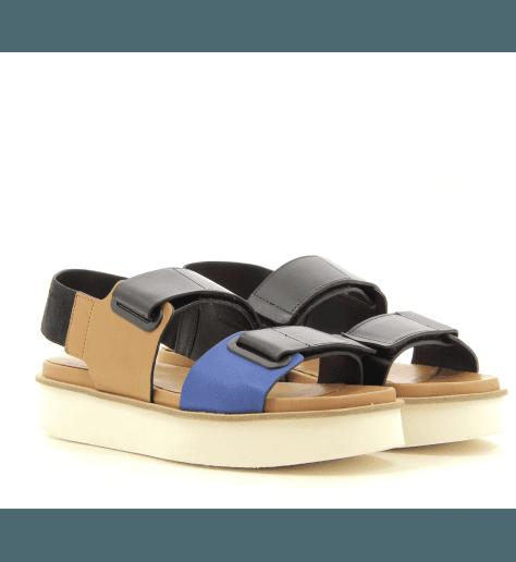 Sandales à semelles épaisses en cuir Vic Matié - 6510D