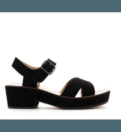 Sandales à talons semelles épaisses noires CHIE MIHARA - OCRA30