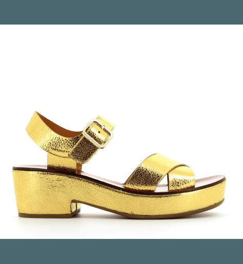 Sandales à talons semelles épaisses doré CHIE MIHARA - OCRA30D