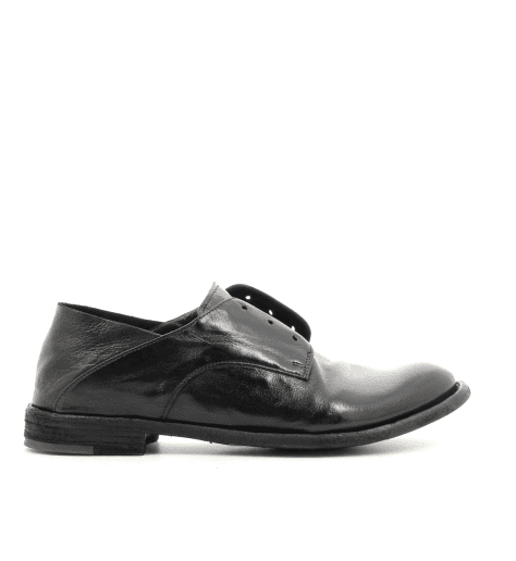 Derbies plats en cuir noir LEXIKON 514N - Officine Creative