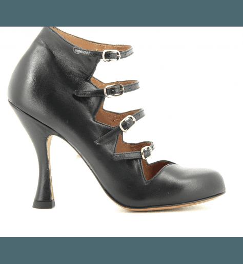 Escarpinsà talons structurés en cuir noir GREECE - Chie Mihara