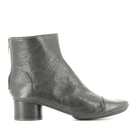 Bottines en cuir noir 823401N- Garrice Collection