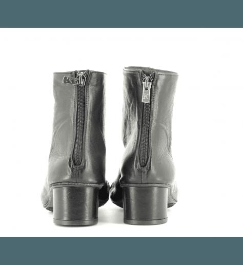 Bottines en cuir noir 823401N- Garrice Collection