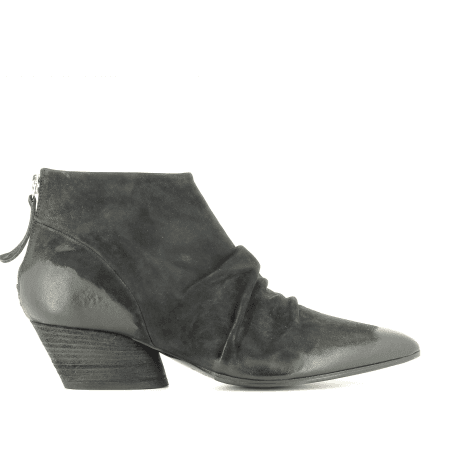 Bottines  en cuir noir  JULIEN01  - Halmanera
