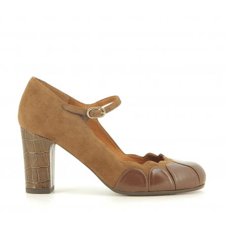 Escarpins en cuir camel KABIL - Chie Mihara