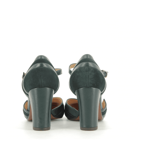 Escarpins bi-matière vert  KIDDY1 - Chie Mihara