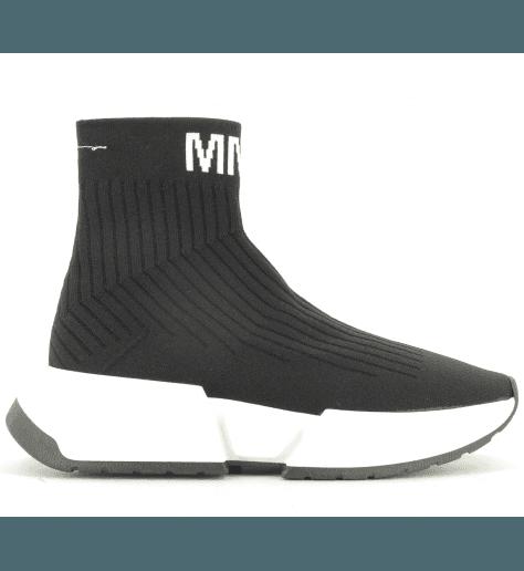 Sneakers noir façon chaussette logo  S59WS0066/964- MM6 Martin Margiela