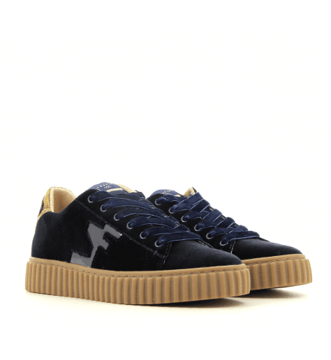 Sneakers en velours bleu MADISON BLUE - Serafini